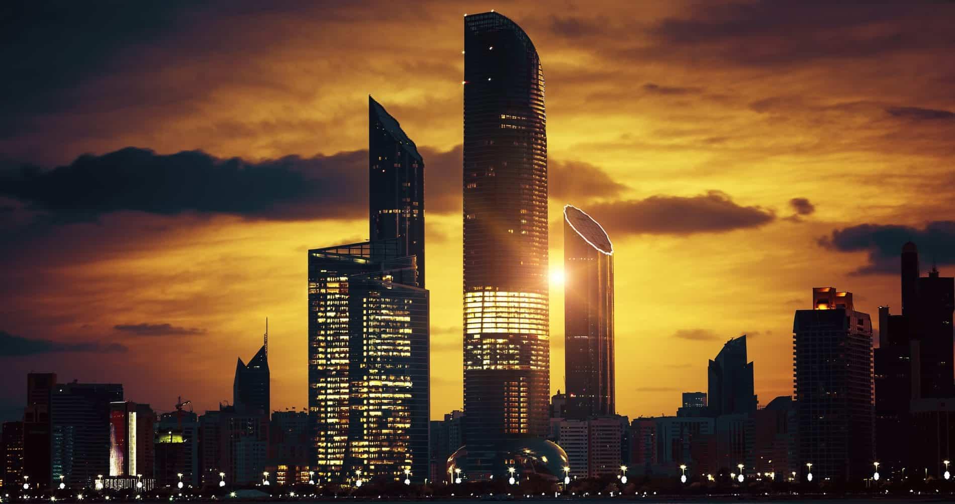 Abu Dhabi Skyline at sunset - Holiday