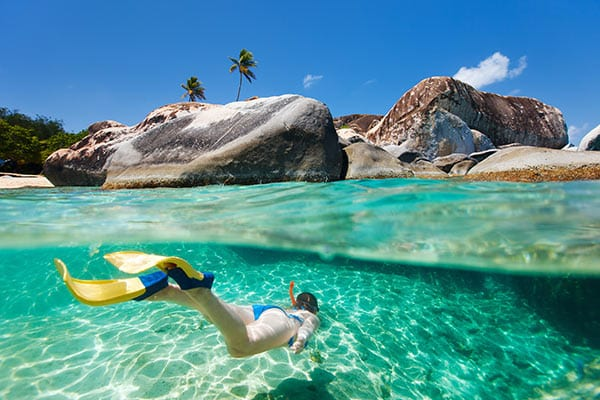 Snorkelling on holiday in Cuba