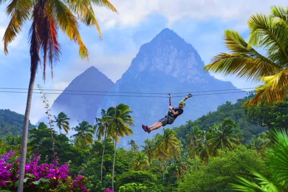 St Lucia holiday - zip lining