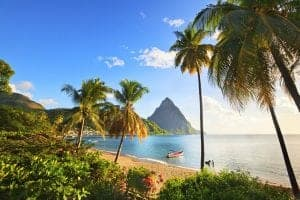 St Lucia holiday - beach