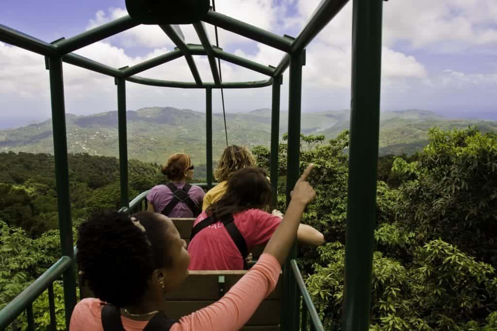 St Lucia holiday - Rainforest Ariel Tram