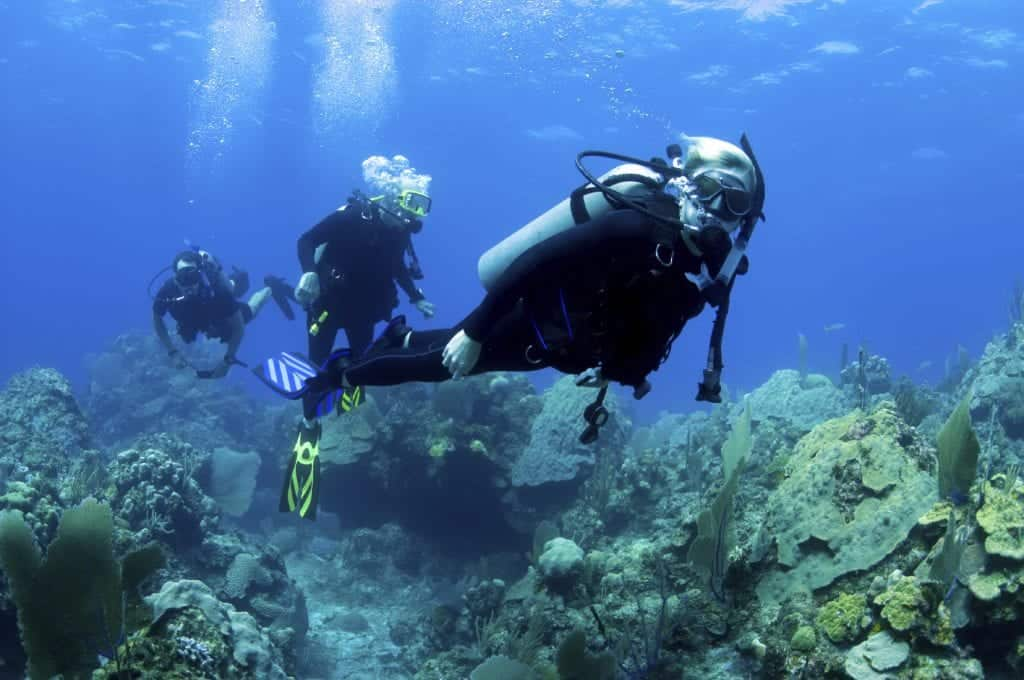 Scuba diving while on holiday in the Caribbean