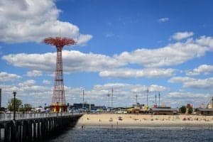 A summer afternoon at Coney Island, NY.