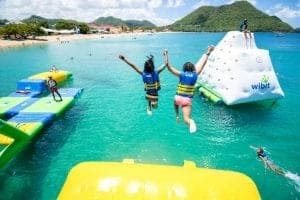 inflatable waterpark st lucia