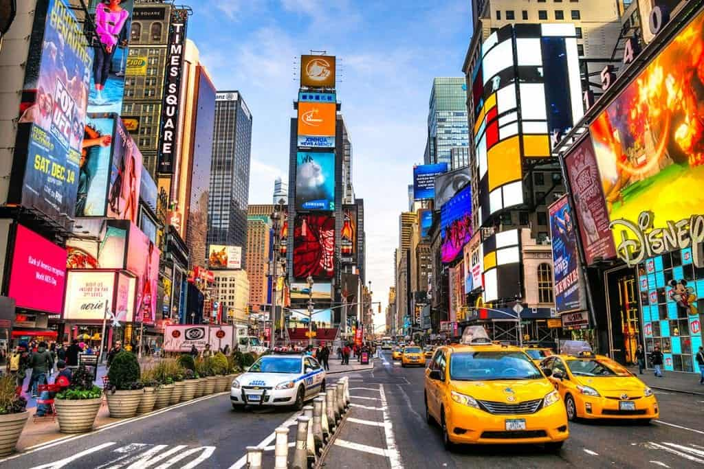 Fly to New York for incredible sights and the lights of Times Square