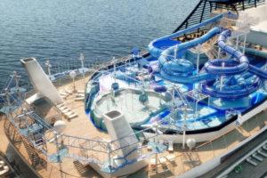 MSC Bellissima cruise holiday waterslide