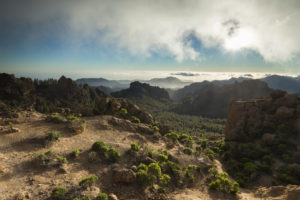 Spain, Canary Islands, Gran Canaria, view from Roque Nublo