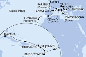 Europe and Caribbean 22 Night Cruise