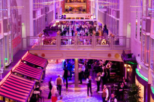 Royale Promenade from Forward Atrium - Deck 7 Forward Independence of the Seas - Royal Caribbean International