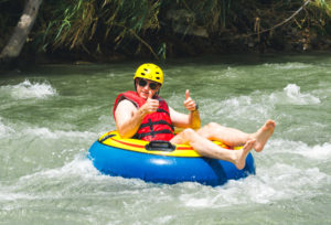 Tubing on holiday in Dominica