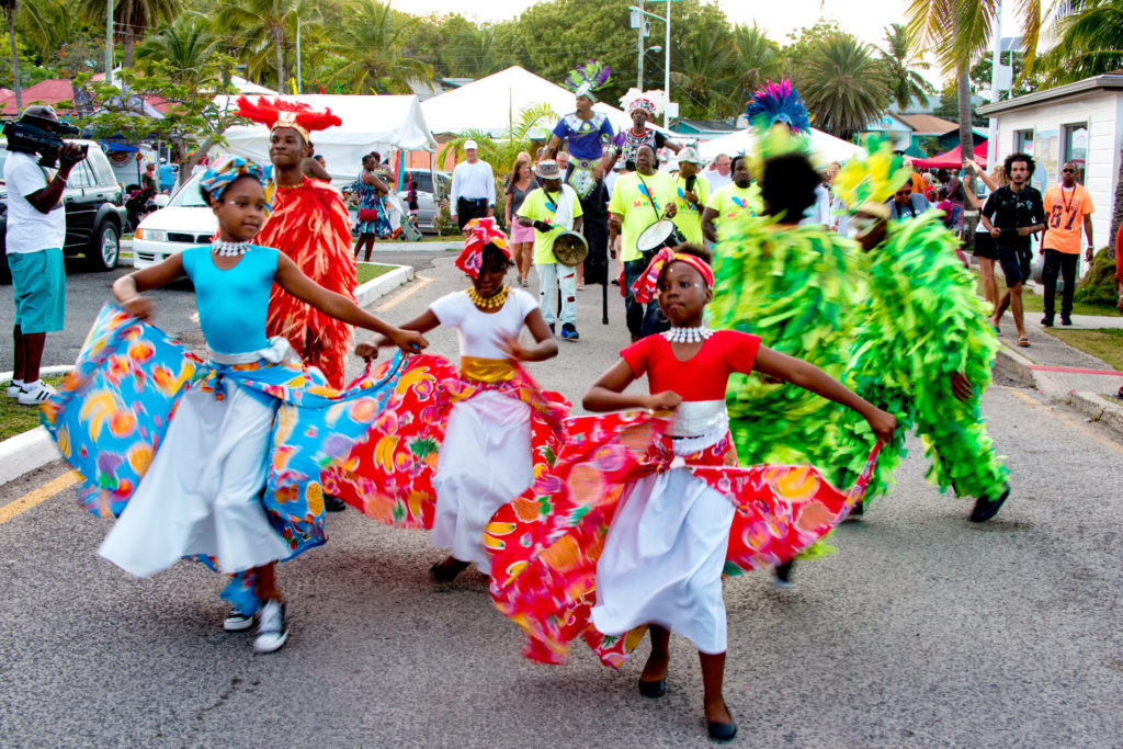 Antgua Sailing Week dancing in costumes