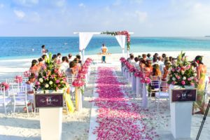 Wedding on the beach in the Caribbean