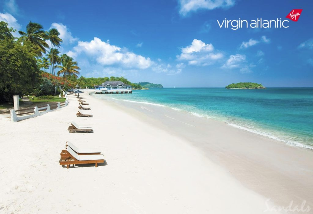 Sandals Halycon - St Lucia - virgin atlantic