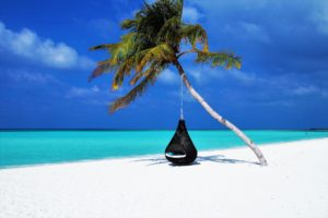 Maldives beach holiday